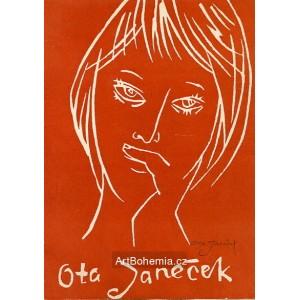 Dívčí hlava, opus 362 (oranžová)