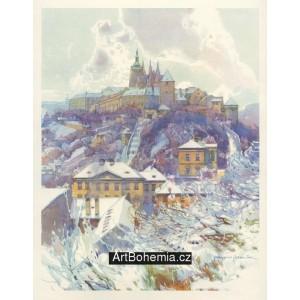 Hrad pražský pod sněhem