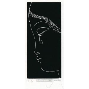 Dívčí profil se slzou, opus 670