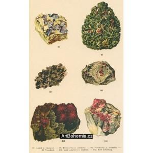 Atlas minerálů - komplet 30 tabulí