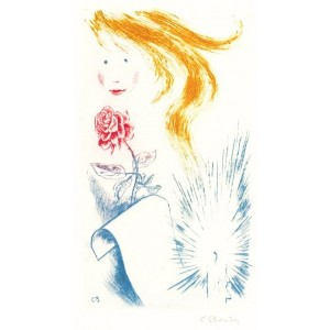 Dívčí hlava s růží, opus 1529 (k 80* Jaroslava Seiferta)