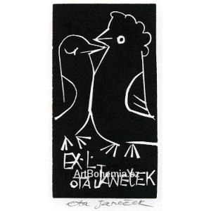 Dva líbající se ptáčci - EXL Ota Janeček (černá varianta)