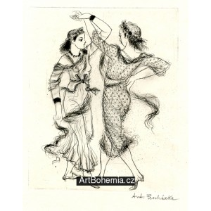 Dvě dívky ve víru tance