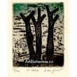 Tři stromy - PF 1987 Alena Laufrová