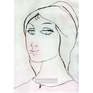 Dívčí hlava s kudrlinkou, opus 690