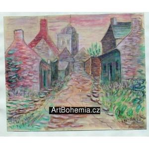 Bretaňská vesnička na dunách