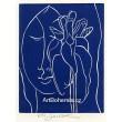 Dívka s orchidejí, opus 531 (modrá varianta)