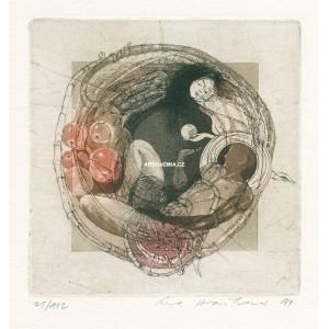 Eva a Adam s jablíčky