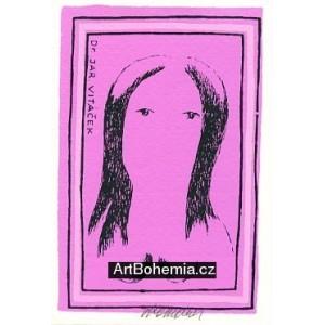 Akt dívky s černými vlasy