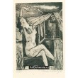 Sedící dívčí akt u otevřeného okna (prof.Karel Svolinský 1896-86)