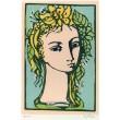 Dívčí hlava s žlutým květem, opus 1091