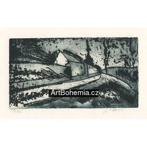 Krajina s domkem (Jaroslav Šváb *85)