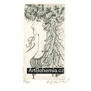 Dívka s květy ve vlasech