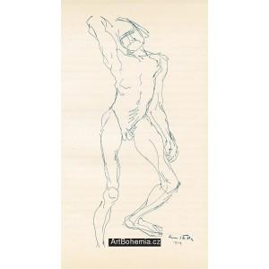 Mužský akt (1909)