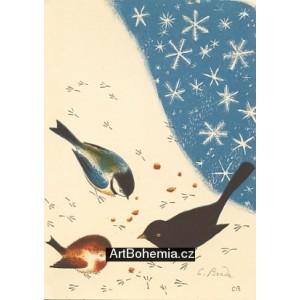 Tři ptáčci ve sněhu, opus 696 (Zima)