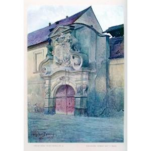 Portál Slavatovského letohrádku na Smíchově