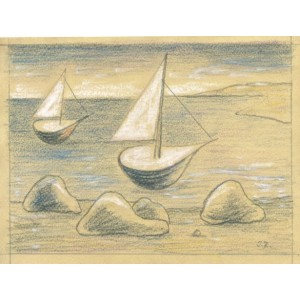 Loďky na bretaňském pobřeží