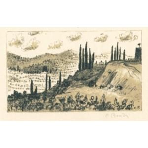 Krajina u Arezza (z cyklu Itálie)