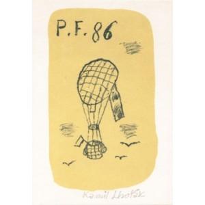 Balón s vlajkou - PF 1986 Kamil Lhoták