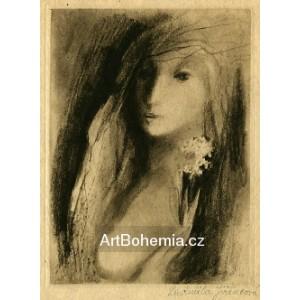 Dívčí akt s květinou (Milostné dopisy)