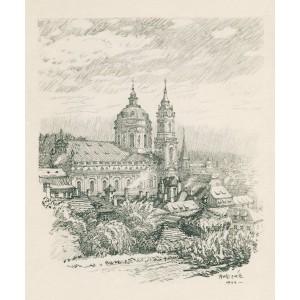Pohled do Schönbornské zahrady (1944)
