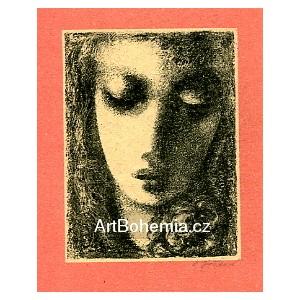 Dívčí hlavička s růží, opus 173