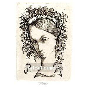 Dívčí hlava s košem ovoce, opus 1171