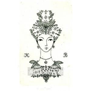 Dívčí hlava s květinovými zvonečky, opus 914