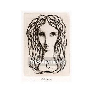Dívčí hlavička s náhrdelníkem, opus 1235