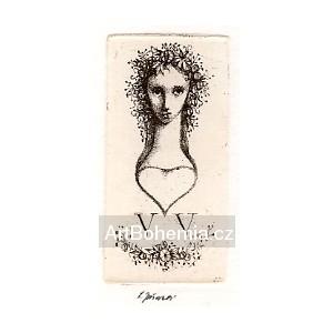 Dívčí hlavička v květech, opus 1320