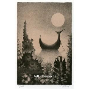 Lodička s měsícem, opus 1142