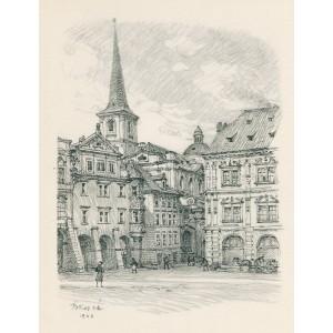 Severových - kout Malostranského náměstí (1943)