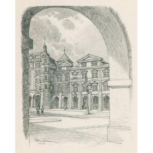 Dům Smiřických a Šternberské domy na náměstí (1944)