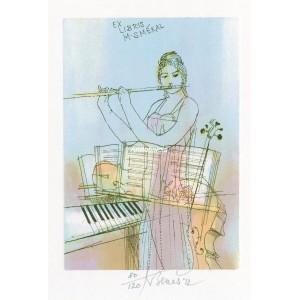 Hudba II - Flétnistka u klavíru a violoncella