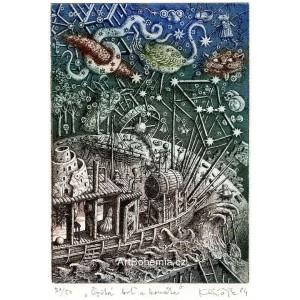 Opitá loď a kométa (z alba prof.Albín Brunovský School I)