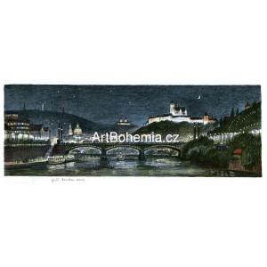 Pražské panorama v noci