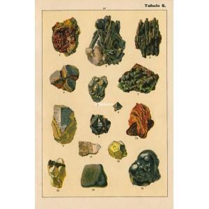 Nerosty a horniny - komplet 6 grafik