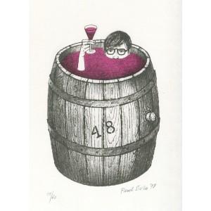 V sudu s červeným vínem (Víno)