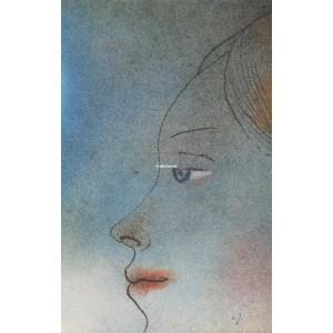 Detail dívčího profilu