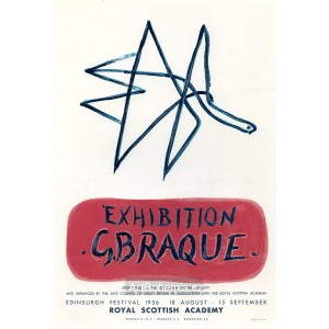Exhibition G.Braque - Royal Scotch Academy, 1956 (Les Affiches originales)