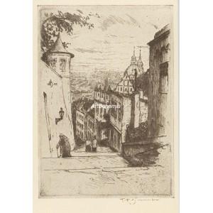 Nové Zámecké schody (Praha 1911)