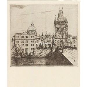 Křižovnické náměstí s Karlovým mostem (Praha 1911)