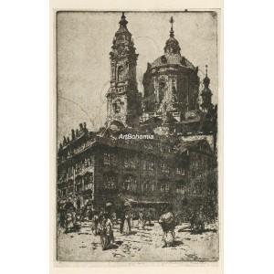 Radeckého náměstí - Chrám sv.Mikuláše (1913) (Krásná Praha II)