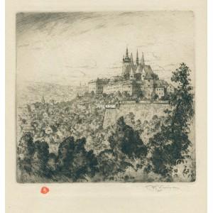 Hradčany z Letné (Praha 1920)