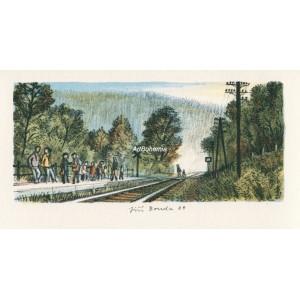 Železniční zastávka (Bělecký mlýn)