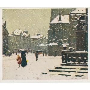 Staroměstské náměstí v zimě