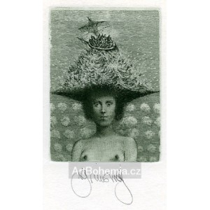Dáma v klobouku VII - Lady with a Hat VII - PF 1982 Albín Brunovský, opus 492 (Editio 13)