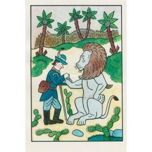 Lev se nechává léčit