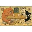 Medvěd i s kozlem v hospodě sedí, celí opilí, sotva že hledí... (Národní říkadla