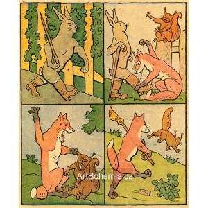 Běžel zajíc kolem plotu, roztrh sobě novou botu...